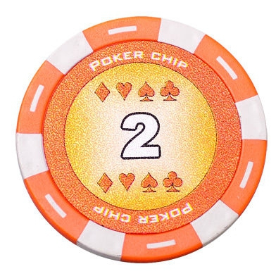 Jeton Poker Chip 11.5g - Culoare Portocaliu - inscriptionat (2)-big