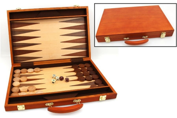 Set joc table / backgammon - frasin - 45x59 cm-big