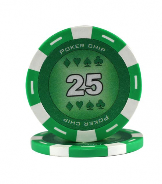 Jeton Poker Chip 11.5g - Culoare Verde - inscriptionat (25)-big