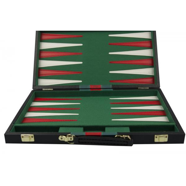 Set joc table/backgammon piele ecologica - 38 x 48 cm-big