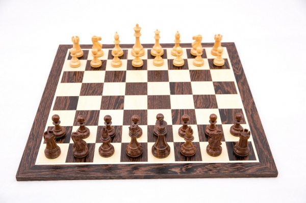 Piese sah Staunton 6 Clasic Black cu tabla sah lemn wenge 2
