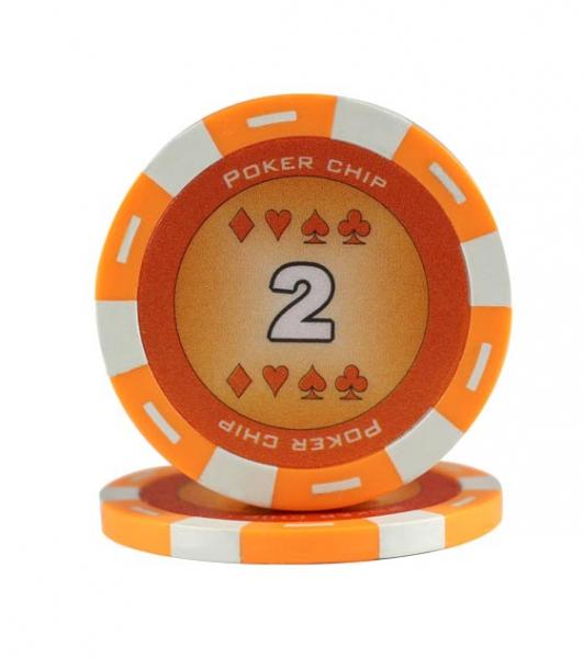 Set poker cu 200 chips-uri ABS 11,5 gr model DICE si servieta din aluminiu 4