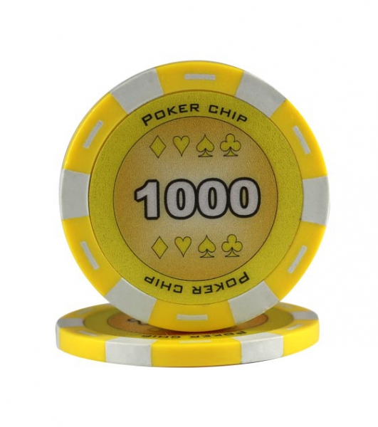 Jeton Poker Chip 11.5g - Culoare Galben - inscriptionat (1000)-big
