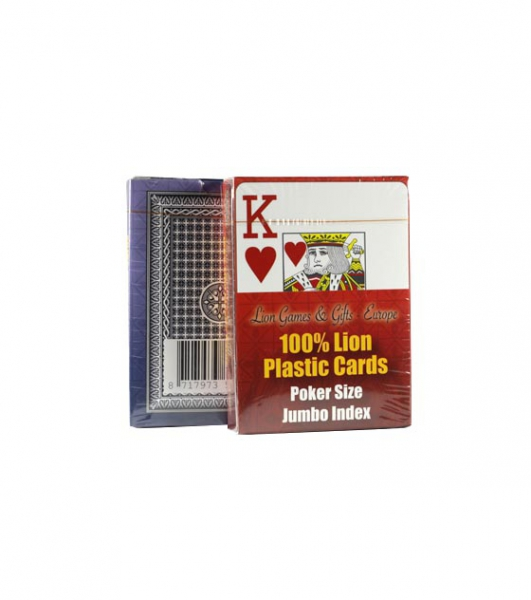 Carti de joc 100% plastic, jumbo index - single deck -big