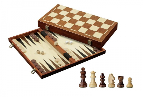 Set de sah si table/backgammon - 45mm, kh 78mm,-big