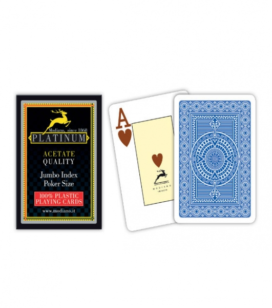 Carti de joc 100% acetat - Platinum poker Jumbo Index-big