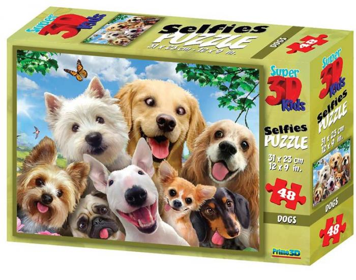 Puzzle 3D, 48 piese - Dog-big