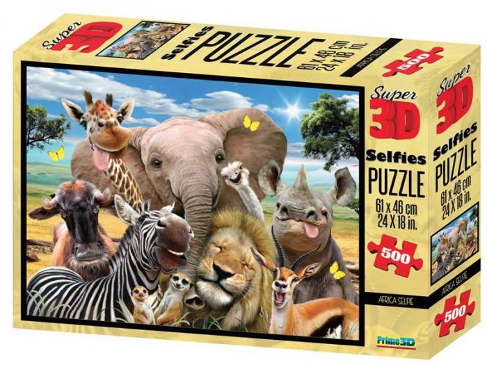 Puzzle 3D, 500 piese - Africa-big