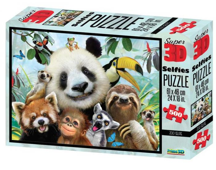 Puzzle 3D, 500 piese - Zoo-big