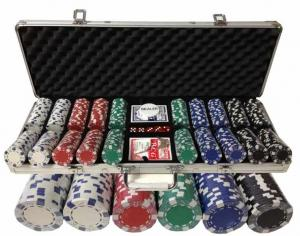 Set poker cu 500 chips-uri tip DICE si servieta din aluminiu OUTLET